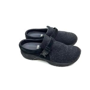 Merrell Groove Wool Mule Loafer Shoes Black